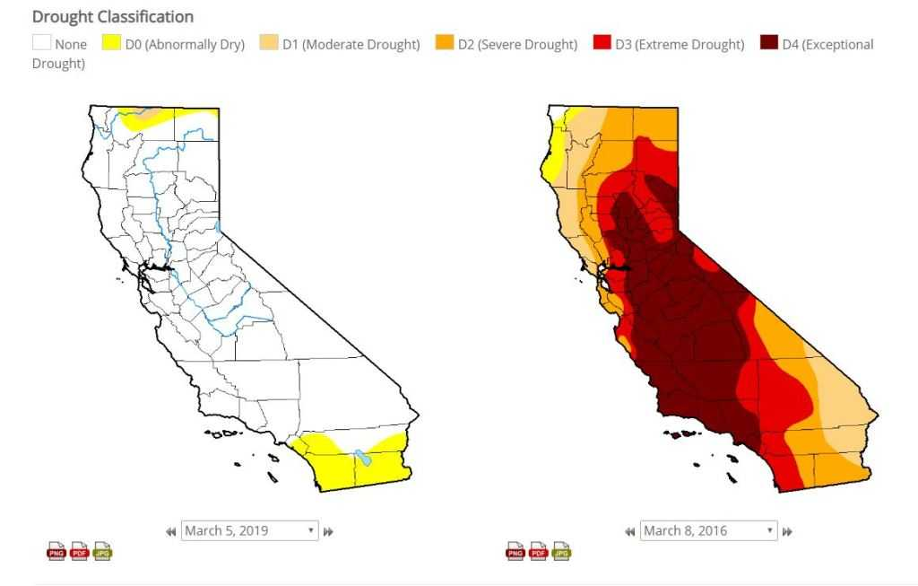 Here's how much recent rains have washed away California's drought