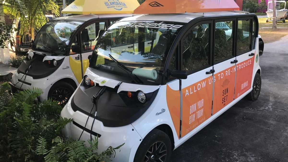 New 'Freebee' electric cars offer you a ride in downtown Fort Lauderdale