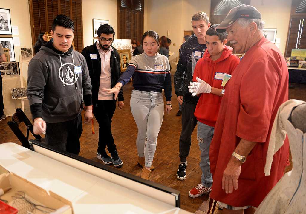 Will C. Wood students get hands-on with history