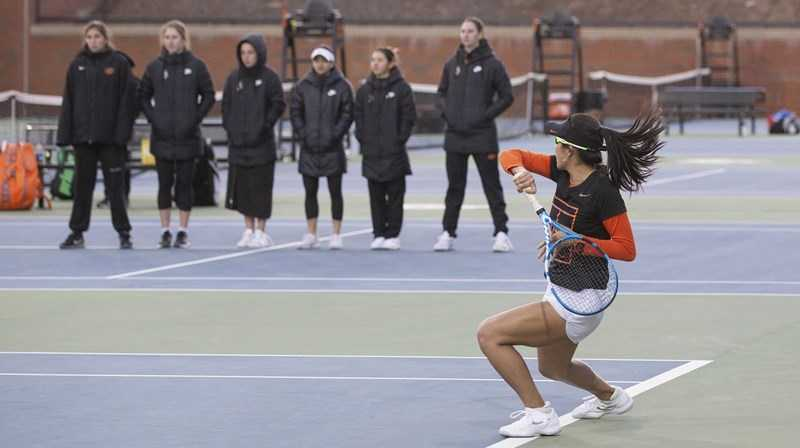 Cowgirls Take Out 10th-Ranked Kansas in Conference Opener