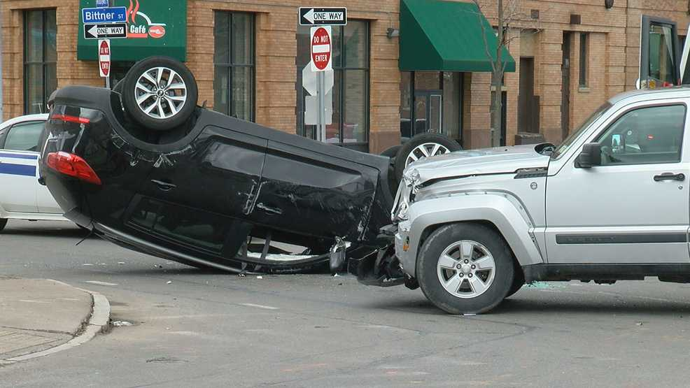 One person taken to hospital following rollover crash on North Clinton Avenue