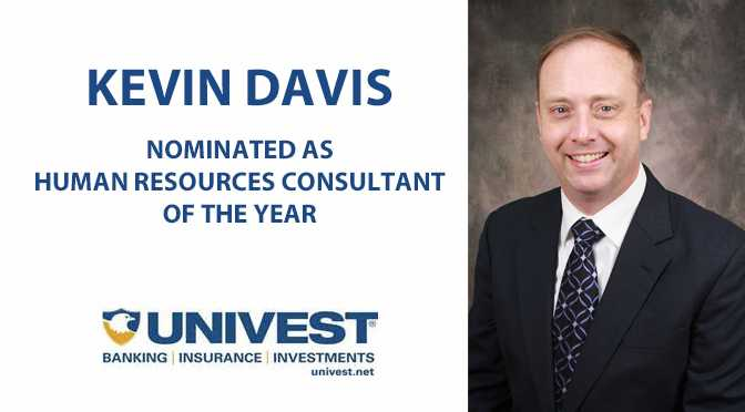 Univest's Kevin Davis Nominated as HR Consultant of the Year