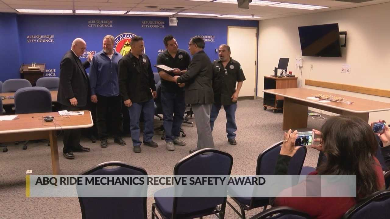 Albuquerque city employees receive safety award