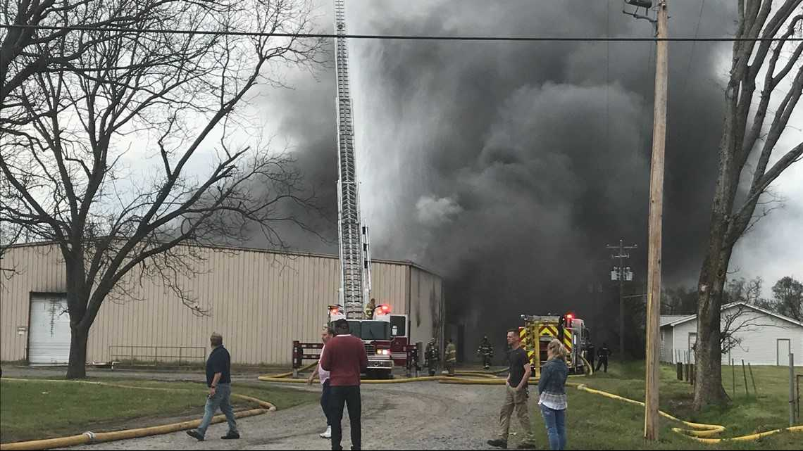 Crews battling industrial fire at NoArk Enterprises, building expected to be total loss