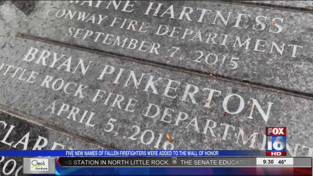 Five AR Firefighters killed by cancer honored Saturday