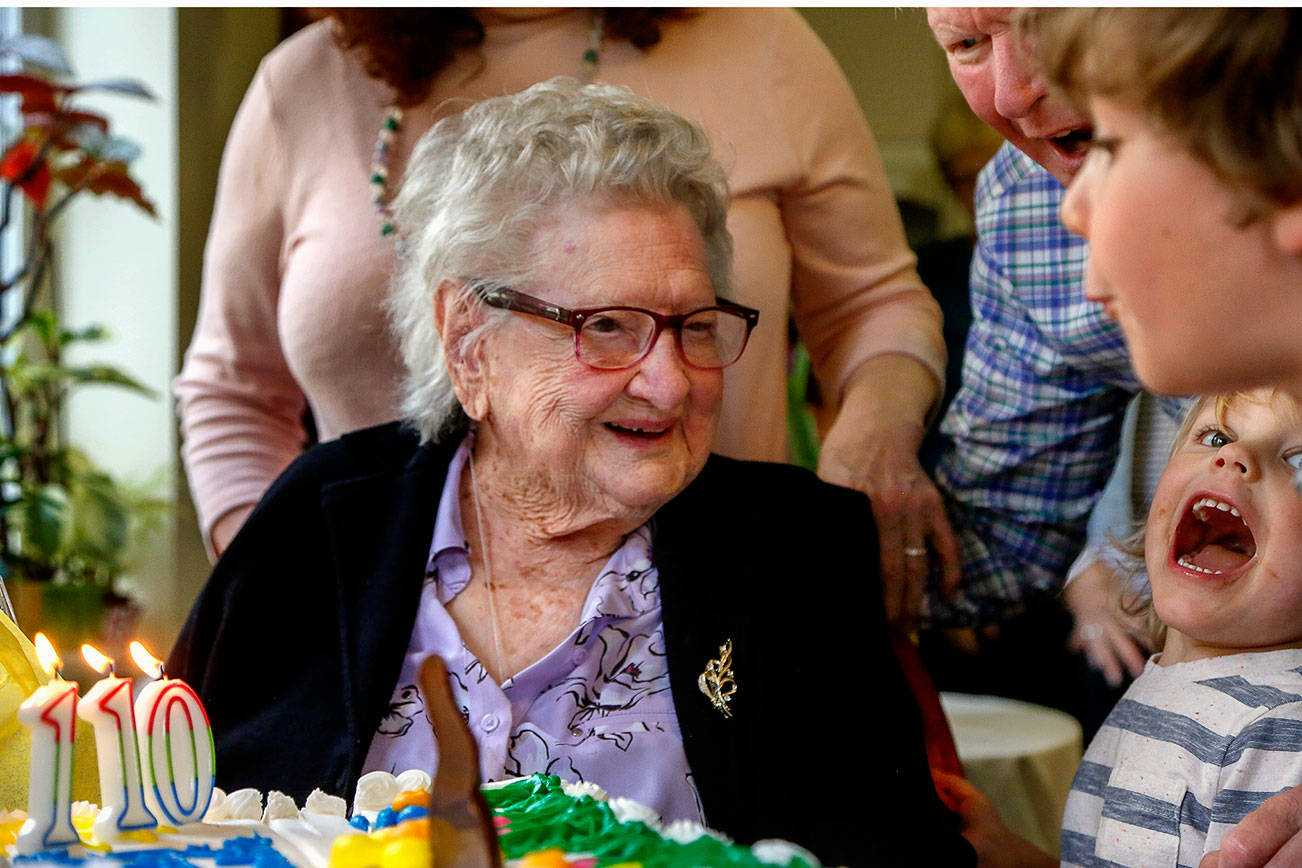 'Pretty amazing' LaVerne Bunney parties on her 110th birthday