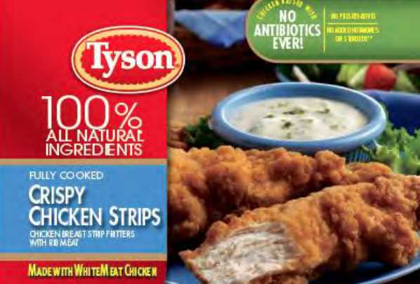 Tyson Recalls Almost 12M Pounds of Chicken Strips Because They Might Have Metal