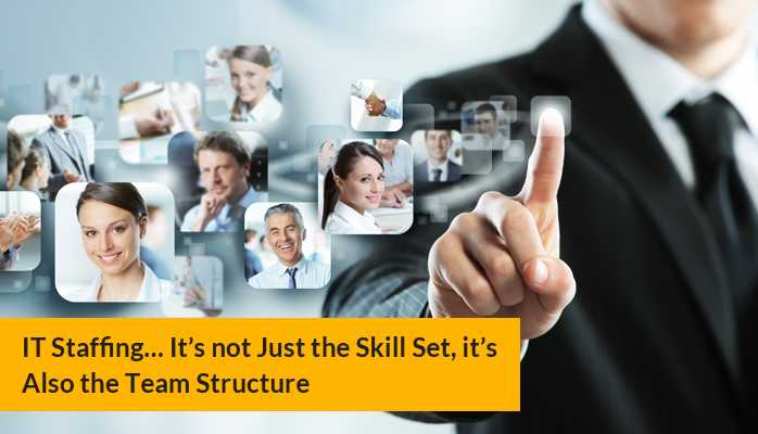IT Staffing… It's not Just the Skill Set, it's Also the Team Structure
