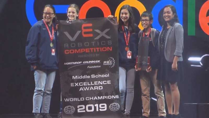 Brentwood Academy Middle School Robotics Team Earns World Title