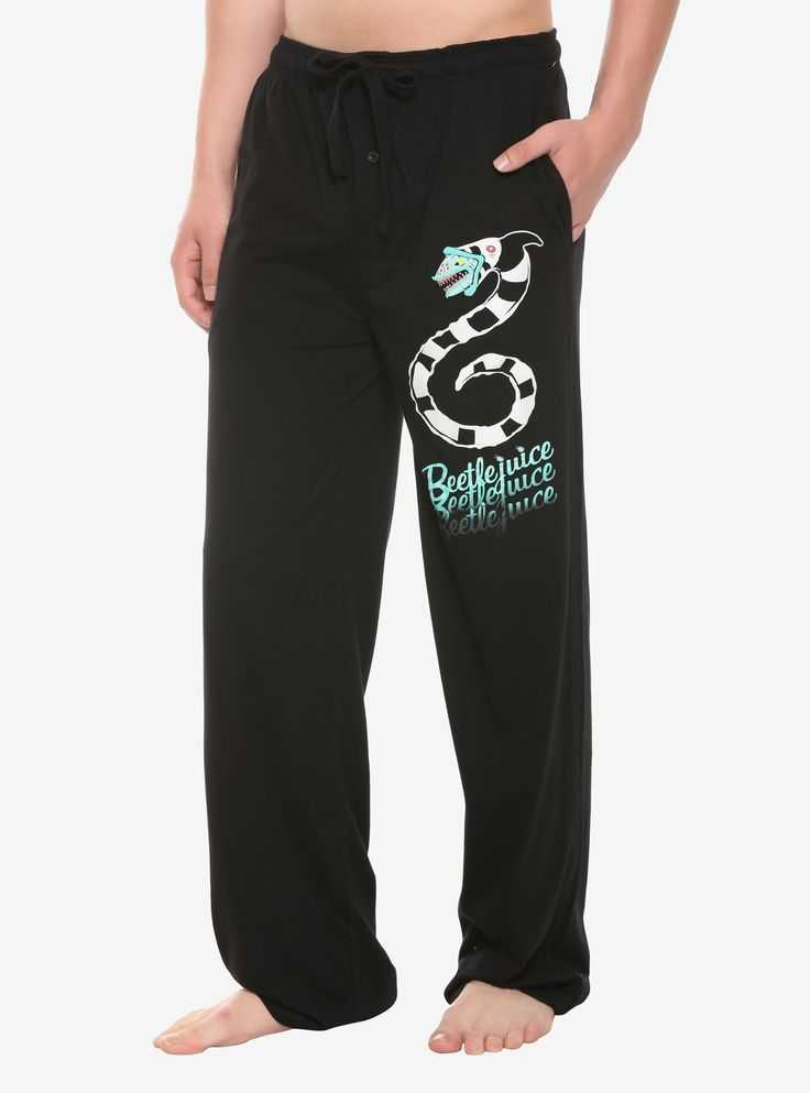 Beetlejuice Sandworm Guys Pajama Pants