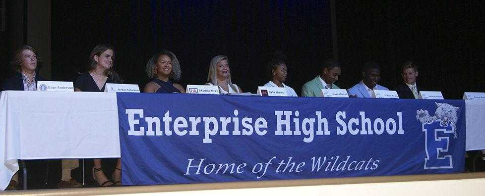 College Bound: EHS holds signing event for senior athletes