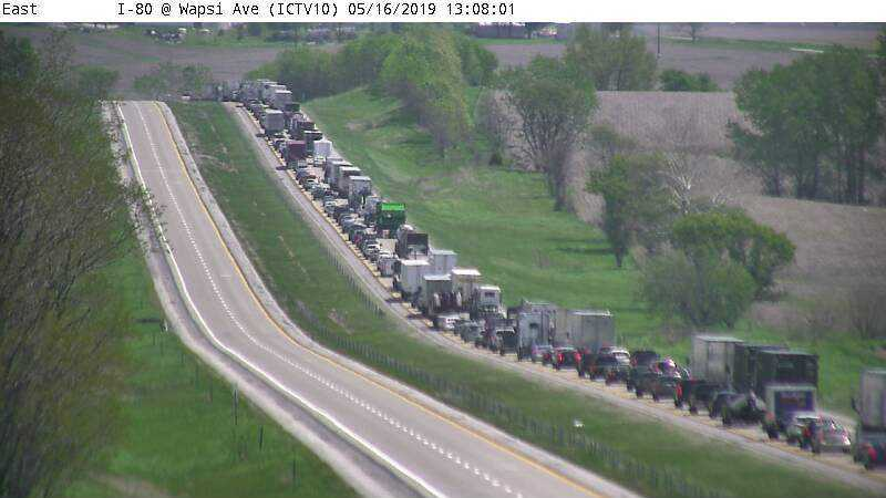 60-year-old West Branch man injured in chain reaction crash on Interstate 80 near West Branch