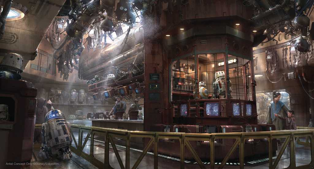 How Disney Imagineers made droid tracks in the Star Wars: Galaxy's Edge walkways