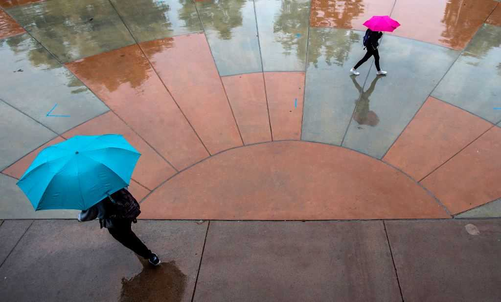 Rare mid-May showers douse Southern California, with more possible this weekend