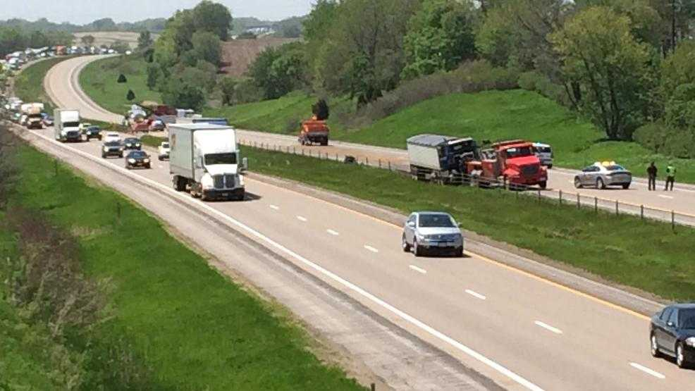 Roadway back open after wrong-way crash on I-80 near West Branch Thursday afternoon