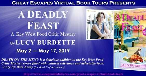 Blog Tour Character Interview & Review for A Deadly Feast by Lucy Burdette