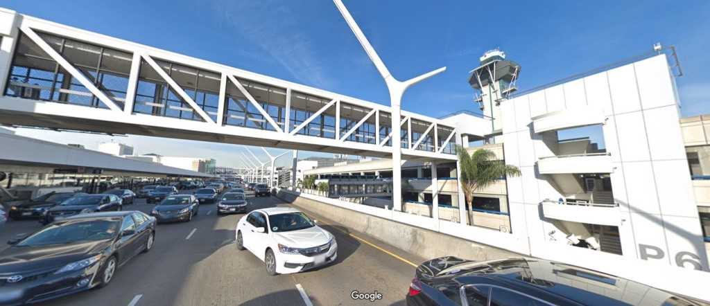 LAX pedestrian bridge demolished to make way for new terminal core, Automated People Mover