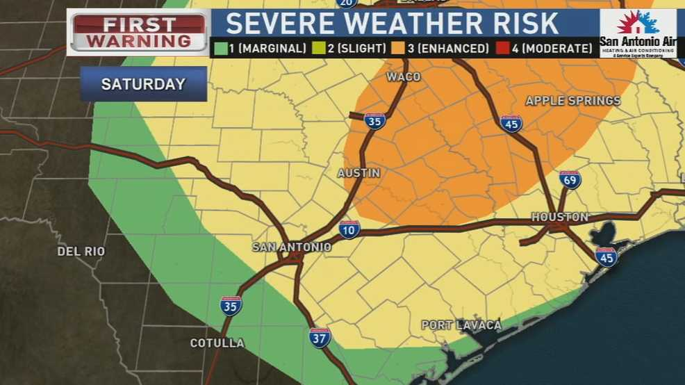 Thunderstorms could bring hail and high winds Saturday