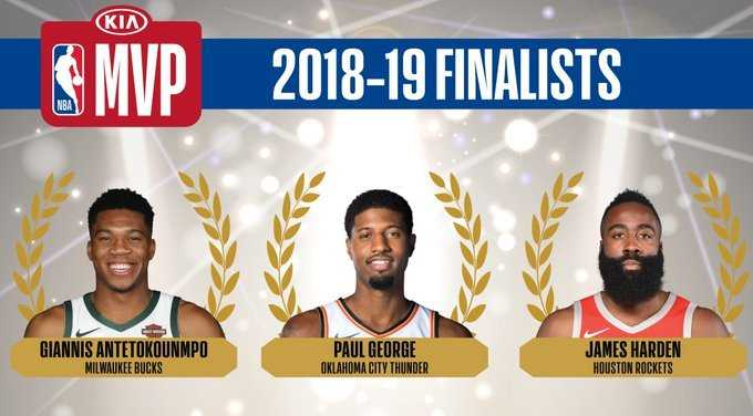 Who are the 2018-19 NBA MVP finalists?