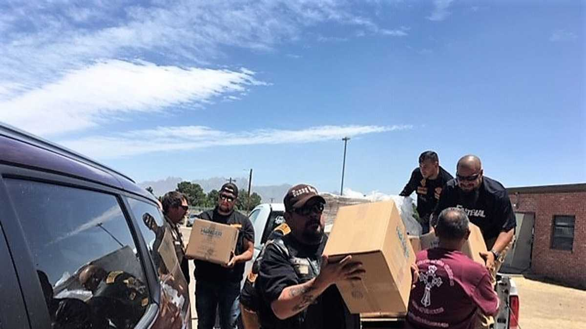 Bikers bring 30,000 meals to feed migrants at facility in New Mexico