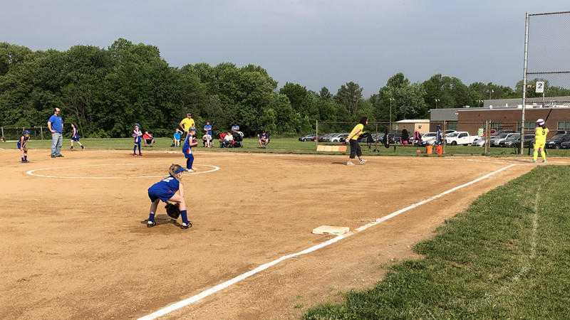Softball returns to Catonsville Middle School fields after last weekend's vandalism