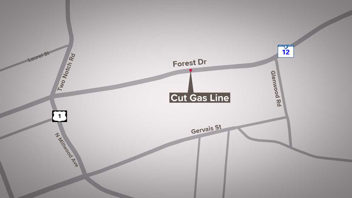 Forest Drive partially reopened after cut natural gas line