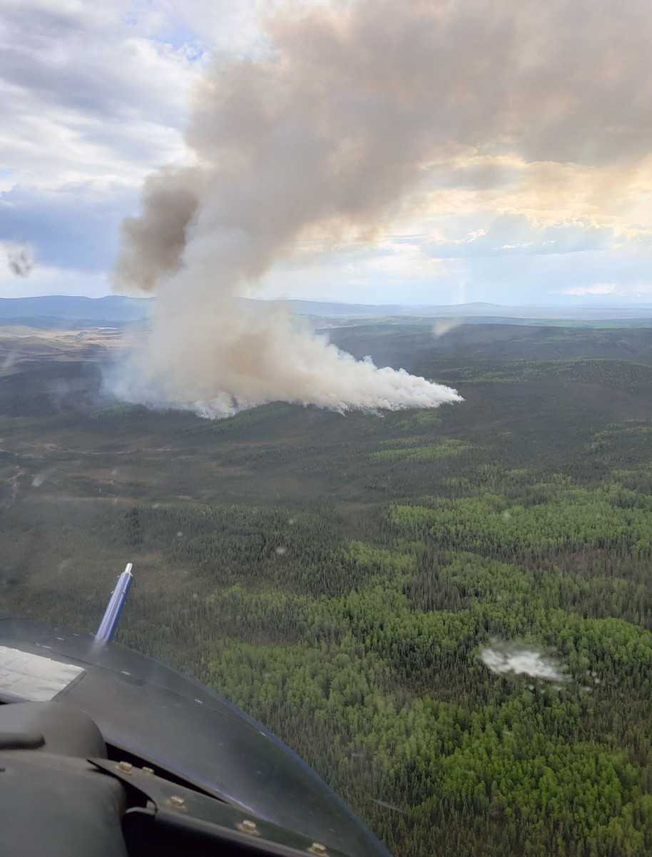 Early-season lightning strikes spark wildfires in Interior
