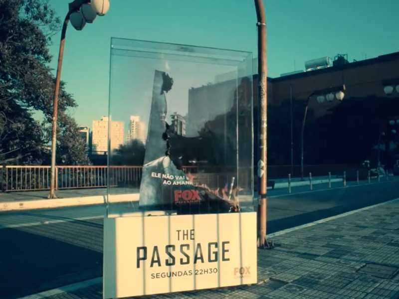 This poster for vampire series 'The Passage' burned up in the sun