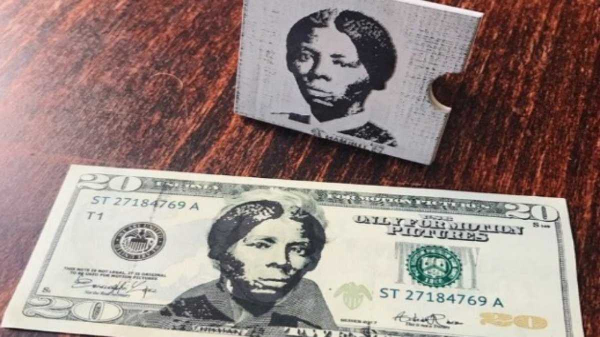 Artist creates stamp to put Harriet Tubman on $20 bills as act of 'civil disobedience'