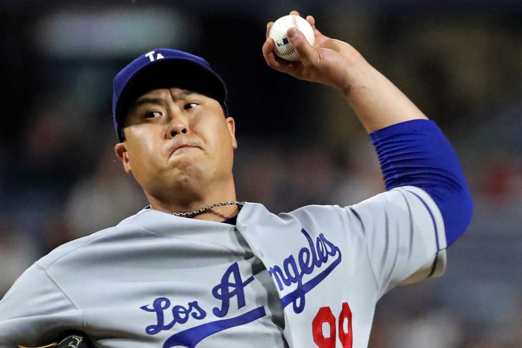 Hyun-Jin Ryu's scoreless streak ends but Dodgers do double duty in win