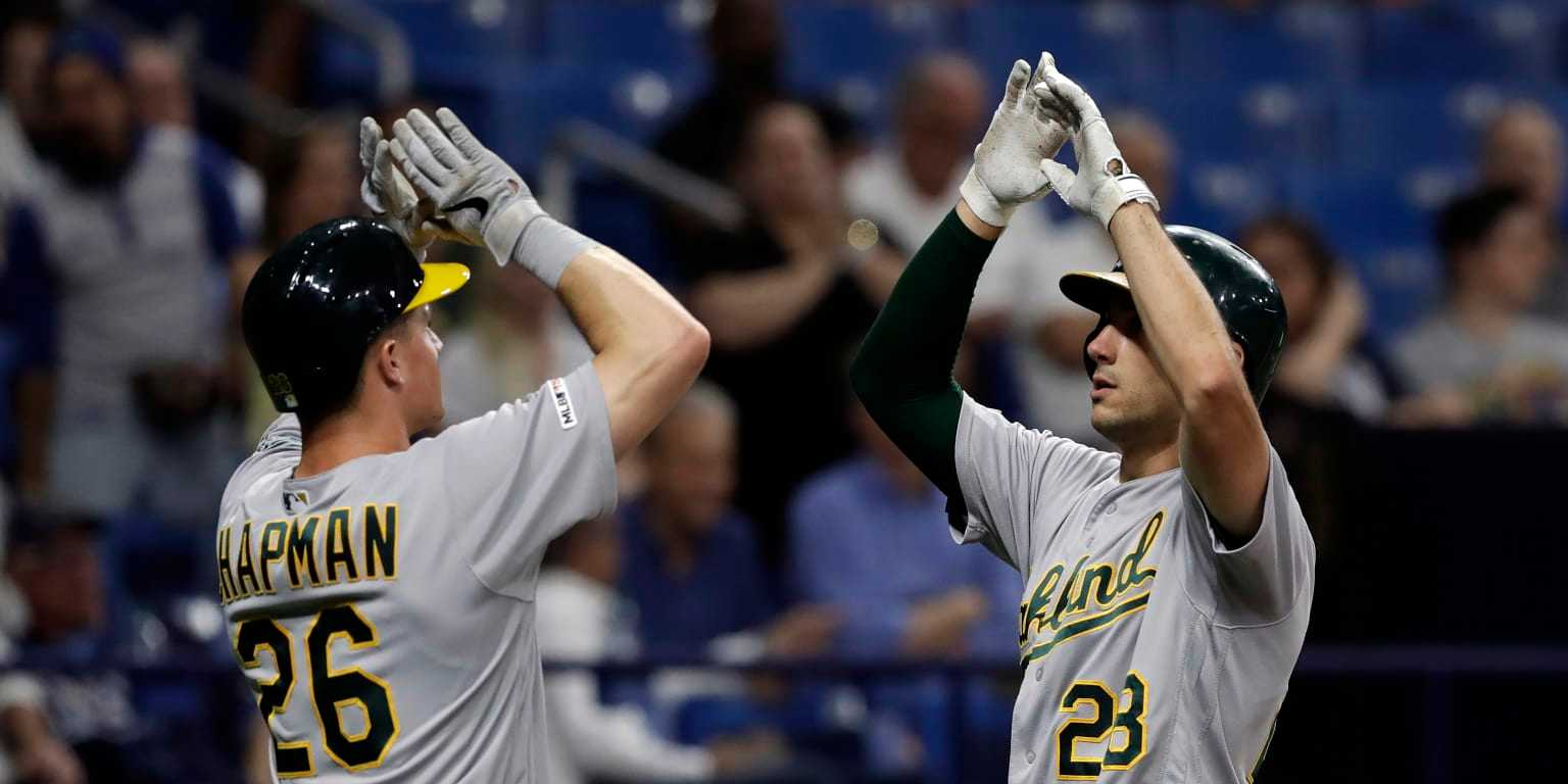 A's bats return to form with back-to-back jacks