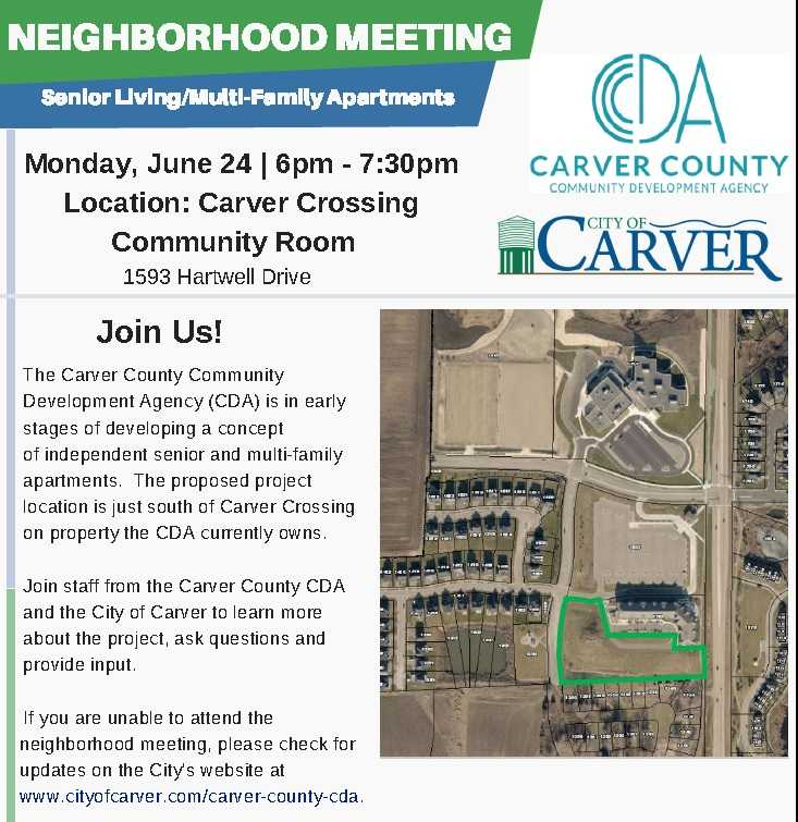 Neighborhood Meeting June 24:  Independent Senior and Multi-Family Housing Concept