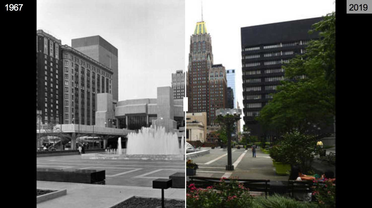 Then and now photos: Hopkins Plaza