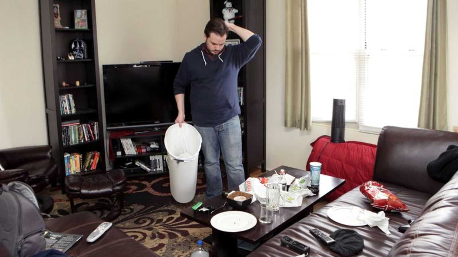 Area Man Cleans Apartment Once Every Relationship