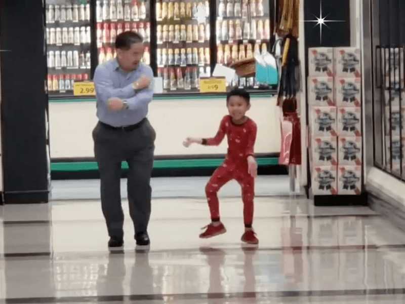 Five-Year-Old Dances with His Grandpa in Grocery Store Before Surgery
