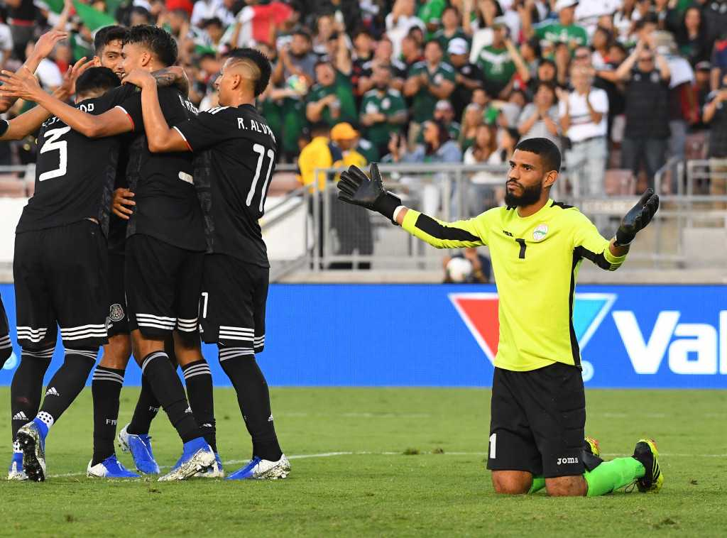 Galaxy's Uriel Antuna scores a hat trick in Mexico's dominant win over Cuba in Gold Cup
