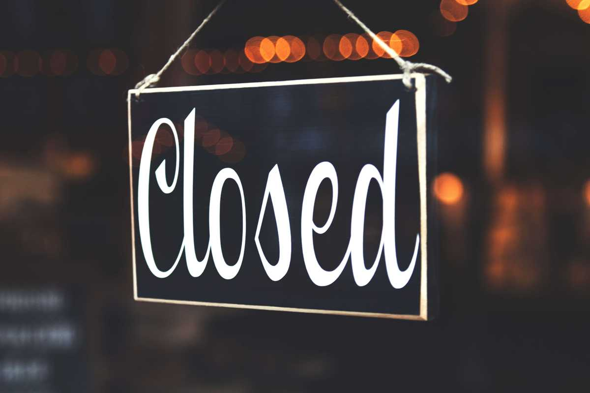 Jurisdictional Closures for July 2019