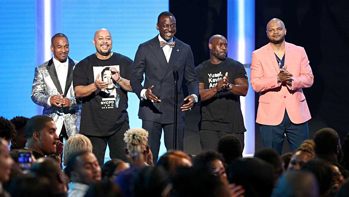 BET Awards: The Central Park Five, introduced as Exonerated Five, get standing ovation