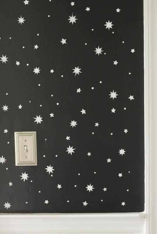 DIY Stenciled Wall: Entry Progress