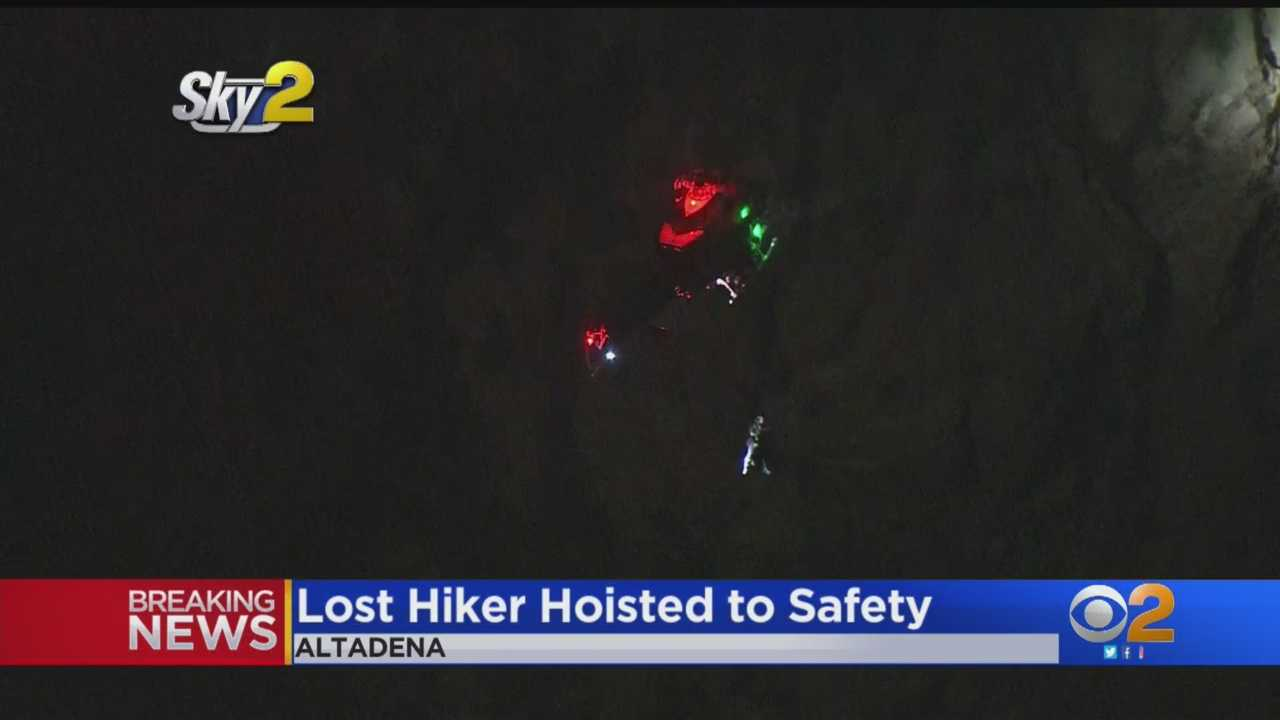 Lost Hiker Hoisted To Safety In Altadena