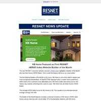 KB Home Featured as First RESNET  HERS® Index Website Builder of the Month
