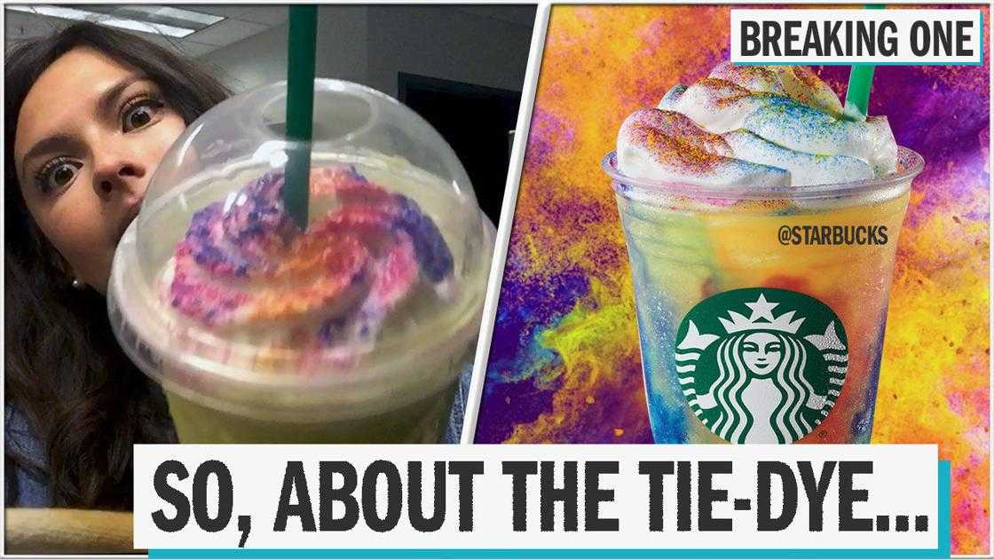 Starbucks' Tie-Dye Frappuccino: What's the deal with this drink?