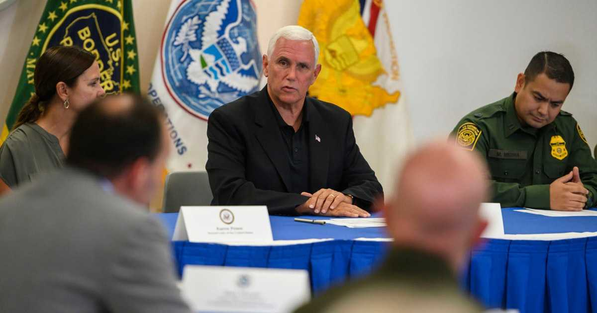 VP Mike Pence acknowledges 'overwhelmed' system at Texas Border Patrol station