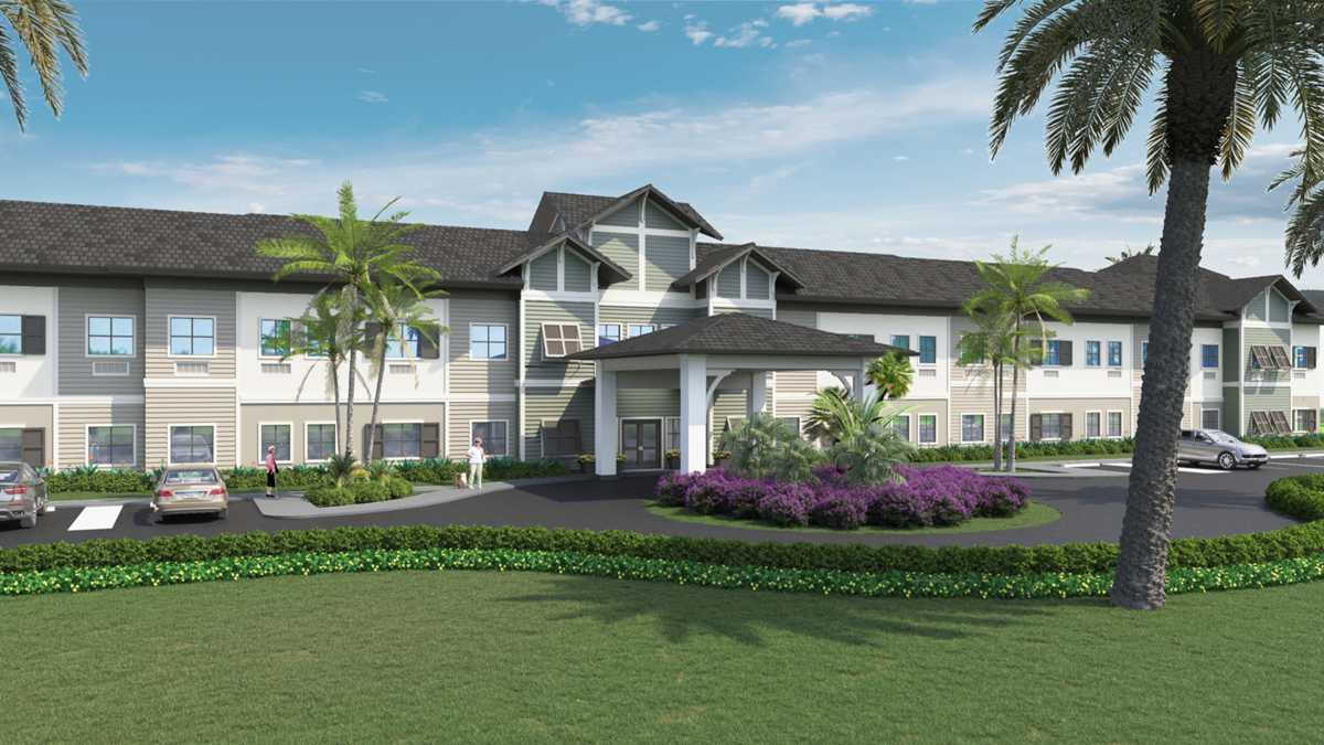 Atrium at Liberty Park Cape Coral by Meridian Senior Living will open this fall meeting new storm protection guidelines.