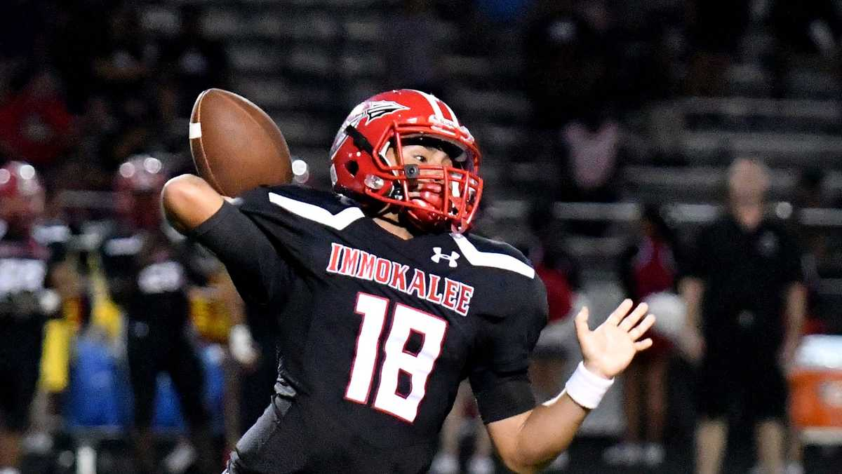 Immokalee quarterback RJ Rosales has transferred to play at Evangelical Christian School
