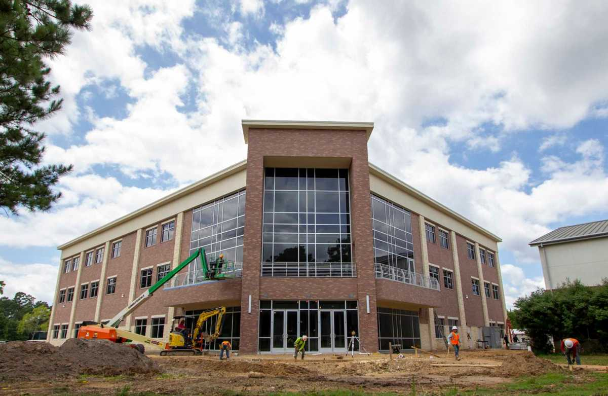 Students at The Woodlands Christian Academy will soon be housed in new high school building that is almost complete