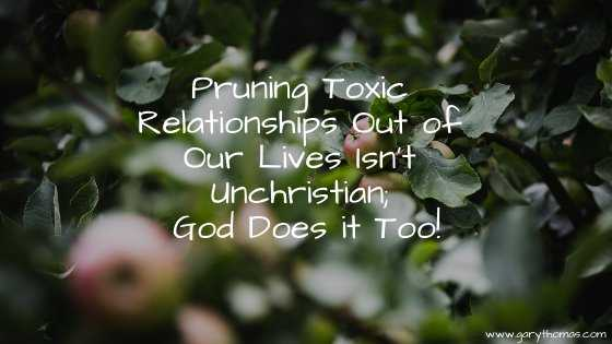 Pruning Toxic Relationships Out of Our Lives Isn't Unchristian; God Does it Too!
