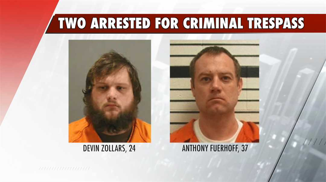 Two Columbus men arrested for criminal trespass
