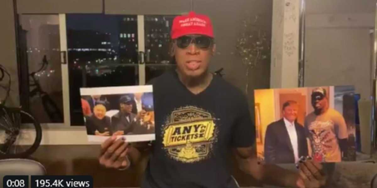 'Ambassador' Dennis Rodman offers his diplomatic services to the NBA to smooth over China situation