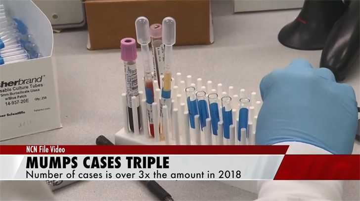 Mumps in NE more than triple 2018 total
